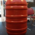 Rainbarrel, side view